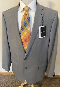 NEW Claiborne 50L Gray Glen Plaid Wool Blend Sport Coat Blazer Jacket $260 NWT