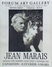 """""""EXPOSITION Jean MARAIS à MONTE-CARLO 1980"""" Affiche originale entoilée"""