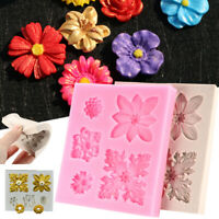 Flower Lace Silicone Fondant Mold Cake Border Decor Sugar Icing Paste Mould  US