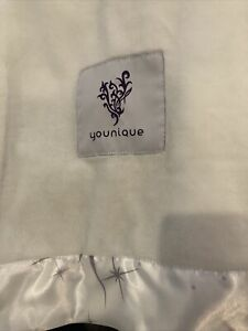 """Younique brand 48"""" ×60"""" plush blanket throw or lap blanket ivory white"""