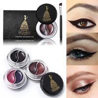 Chic Waterproof Eyeliner Shadow Eye Liner Gel Makeup With Brush 1 Set 2Colors SS