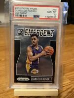 D'Angelo Russell 2015-16 Panini Prizm RC Emergent #18 PSA 10 Lakers Timberwolves