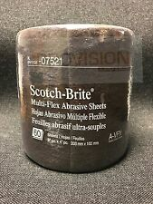 3M-07521 Scotch-Brite Multi-Flex Abrasive Sheets (60 sheets) (3M-7521)