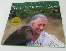 RARE JANE GOODALL SIGNED LIVING WITH CHIMPANZEES