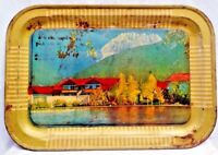 VINTAGE TIN TRAY SERVING KASHMIR SCENERY LITHO PRINT COLLECTIBLES GENUINE # 24