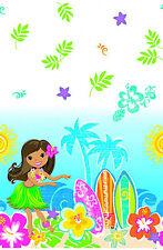 Hawaiian Hula Playa Mantel Tropical Hula Niña fiesta Tabla De Surf Libre P&P