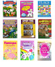 ANIMALS COLOURING BOOKS - Kids Activity A4 Fun Stickers Puzzle Games Smile