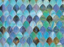 """Brewster Peacock Window Privacy Film Textured & Stained Glass Effect 11.5"""" x 78"""""""