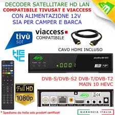 Decoder Ricevitore Combo Tivusat HD Satellitari e dtt Tv Sat Senza Smart Card