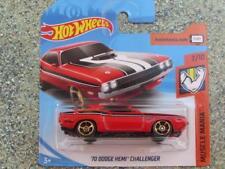 Hot Wheels 2018 # 189/365 1970 Dodge Hemi Challenger rojo Muscle Mania