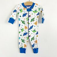 Hanna Andersson Infant Baby Sleeper One Piece Pajamas Space Alien Planets 60 6-9