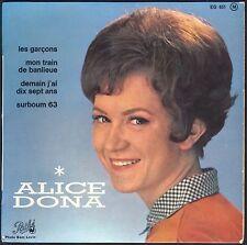 ALICE DONA TRAIN DE BANLIEUE / DEMAIN J'AI 17 ANS 45T EP PATHE 651 2ème POCHETTE