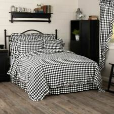COUNTRY PRIMITIVE FARMHOUSE  BLACK BUFFALO CHECK QUILT COLLECTION VHC BRANDS