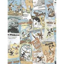 DISNEY MINNIE PAPERINO Fumetto COPERTURA Carta da parati per bambini vintage