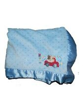 Child Of Mine Carters Blue Dog Car Stoplight Polka Dot Blanket Blankie Sateen