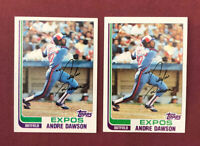 1982 Topps #540 Andre Dawson Montreal Expos HOF ~ Lot of 2