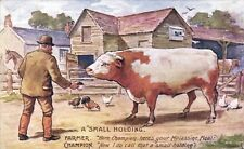 Advertising. Molassine Cattle Meal/Dog Food. A Small Holding. Champion Bull.