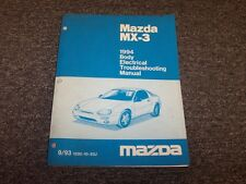 1994 Mazda MX3 Hatchback Body Electrical Wiring Diagram Manual Book GS 1.6L 1.8L