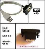 USB Einbaubuchse Buchse 50cm passend für A3 A4 A5 A6 S3 S4 S6 RS3 RS4 RS6 TTS 80