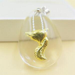 Charming  24K Yellow Gold Pendant/Lucky Man-made Cystal Bless Fox Pendant