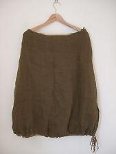 Designer Eileen Fisher jupe doublée taille S mi-longue UK 10 100% lin