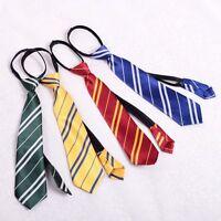 Harry Potter cravate tie à rayures pr Gryffindor/Ravenclaw/Slytherin/Hufflepuff