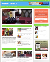 HEALTHY DRINKS GUIDE - Fully Featured Niche Website For Sale - Newbie Friendly