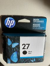 HP 27 Black Ink Cartridge New In The Box, Expires January 2020