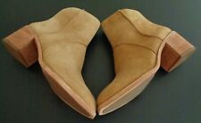 FRYE Women's MONROE Seamed Suede Bootie Brown Boots NEW NO BOX Size 10 Free Ship