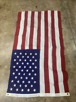 50 Star USA Flag Approx 3'x5' Vintage