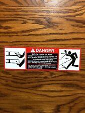 John Deere Mower Deck Decal  Danger Blades 318,50 inch