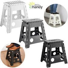 More details for large step stool folding plastic anti slip grip multi purpose easy storage tall