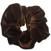 Large Coloured Velvet Feel Hair Scrunchie Bobble Hair Band Elastic
