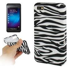 TPU Case Schutzhülle für BlackBerry Z10 Zebra Style schwarz weiß Hülle Cover