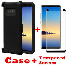 For Samsung Galaxy Note 8 Case Cover w/Screen(Clip Fits Otterbox Defender) BLACK