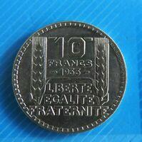 #2453# JOLIE PIECE DE 10 FRANCS  TURIN EN ARGENT 1933/ SUP