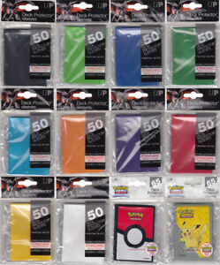 Ultra Pro Standard Trading Card Sleeves Deck Protectors Pokemon, MTG 50 Per Pack