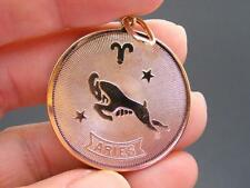 $28 Nordstrom ARIES Horoscope Sign Zodiac Pendant Goldtone Medallion NO CHAIN