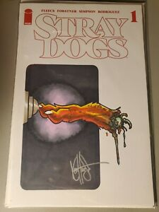 STRAY DOGS 1 5TH PRINTING BLANK VARIANT SIGNED AN REMARKED BY KEN HAESER SKETCH