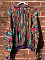 RARE Tundra Canada Bill Cosby Biggie Hip Hop Sweater 2XL Large MultiColored 90s