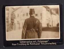 117857 Foto DKW Motoren Verkehrspolizei Mühlhausen mit Katzenaugen 1928 Rasmusse