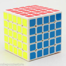 NEW Moyu 5x5x5 Entry level Magic Cube Twist Puzzle Game IQ Educational Toy White
