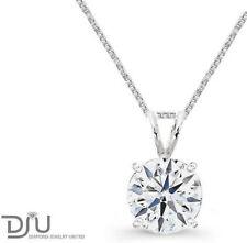 White Gold VVS2 Fine Diamond Necklaces & Pendants