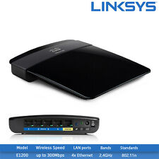New Linksys E1200 2.4GHz 300 Mbps 4-Port 10/100 Wireless N Router