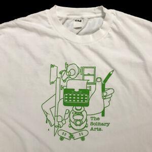 VINTAGE Geoff McFetridge L Used SOLITARY ARTS T-Shirt - kaws futura mcgee undftd