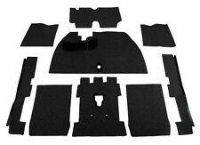 1971-1972 Deluxe VW Super Beetle Convertible Carpet Kit 9pc w/o Footrest, Black