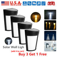 New LED Solar Power Dusk to Dawn Light Outdoor Yard Garden Wall Lamp Waterproof