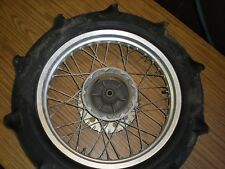 REAR WHEEL RIM HUB PADDLE TIRE 1981 SUZUKI RM465 RM 465 80 81 82