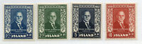 Iceland - Facit# 315 - 318   / Sc# 274 - 277 MLH     /      Lot 0420623
