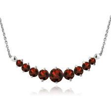Runde Echtschmuck-Halsketten Granate